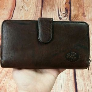Buxton Hieress Leather Clutch Checkbook Wallet